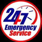 emergency service logo for 24/7 service
